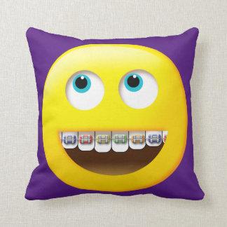 Emoji with Braces Pillow