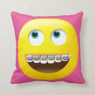 Emoji with Braces Pillow