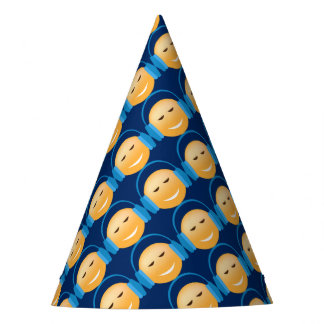 Emoji With Headphones Party Hat
