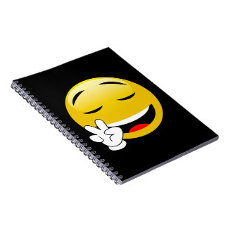 Emoji With Peace Sign Hands Notebook