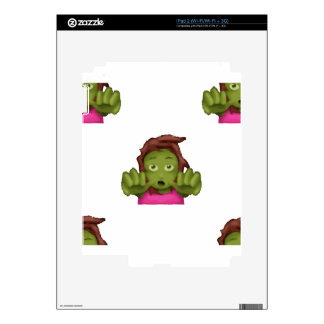 emoji zombie woman decals for the iPad 2