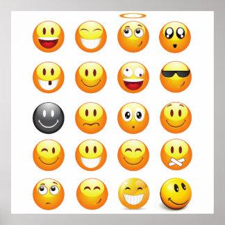 emojis art poster