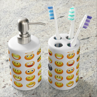emojis bathroom set