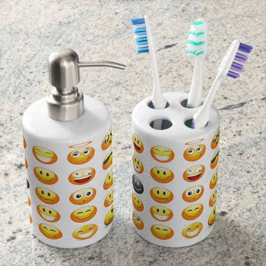 Emojis Bathroom Set Zazzle Com