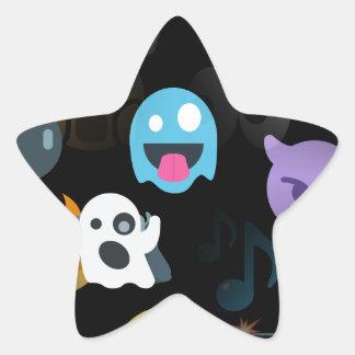 emojis de Halloween Pegatina En Forma De Estrella