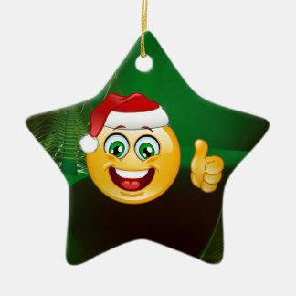 emojis de Papá Noel Adorno Navideño De Cerámica En Forma De Estrella