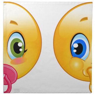 emojis del bebé servilleta