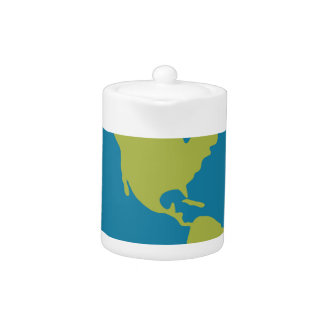 Emojis Planet Earth World Continents Designs Teapot