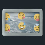 "Emojis Rectangular Belt Buckle<br><div class=""desc"">Emojis and</div>"