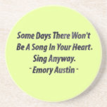 Emory Austin Inspirational Quote Motivational Word Drink Coaster
