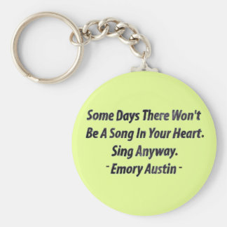 Emory Austin Inspirational Quote Motivational Word Key Chain