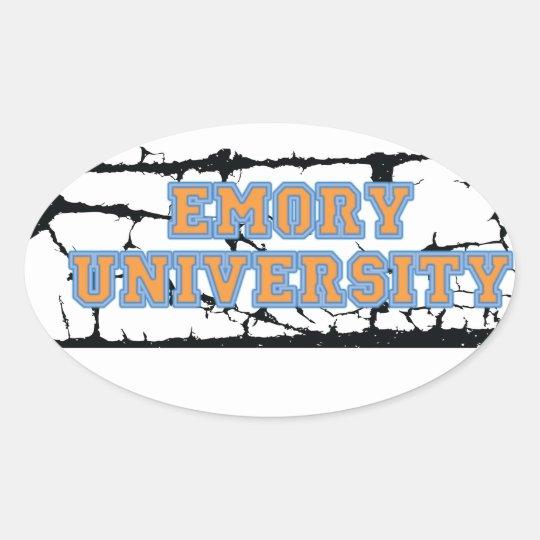 Emory University Oval Sticker