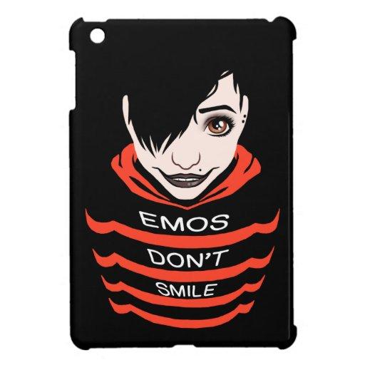 Emos no sonríe iPad mini cárcasas