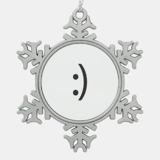 emoti smiley.ai adorno de peltre en forma de copo de nieve