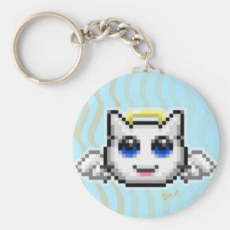 Emoticon #1 basic round button keychain
