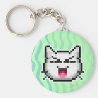 Emoticon #2 basic round button keychain