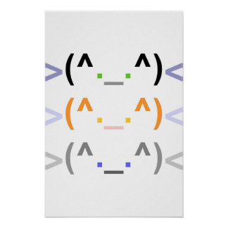 """Emoticon"" 3 CUTE CATS! - Poster - Vertical"