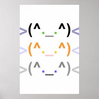 """¡""""Emoticon"""" 3 GATOS LINDOS! - Poster - vertical"""