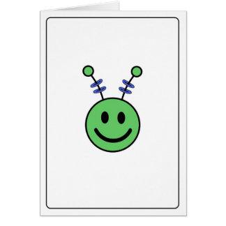 Emoticon - Alien Card