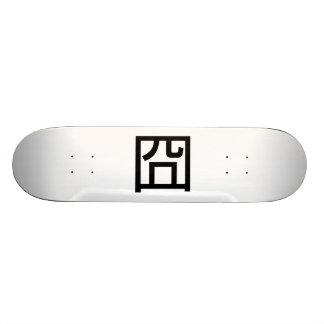 Emoticon asiático de Orz Meme Hanzi del chino de Skateboards