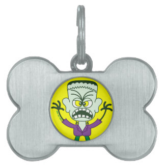 Emoticon asustadizo de Halloween Frankenstein Placa Mascota