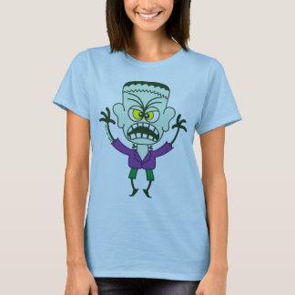 Emoticon asustadizo de Halloween Frankenstein Playera