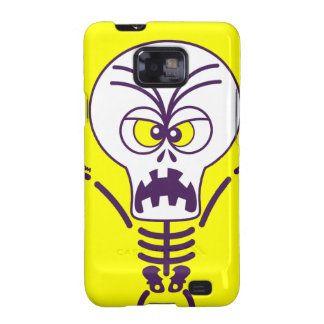 Emoticon asustadizo del esqueleto de Halloween Galaxy SII Carcasas