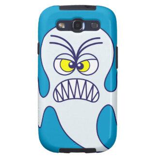 Emoticon asustadizo del fantasma de Halloween Galaxy S3 Fundas