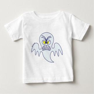 Emoticon asustadizo del fantasma de Halloween Playera De Bebé