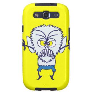 Emoticon asustadizo del hombre lobo de Halloween Galaxy S3 Fundas