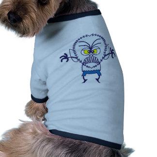 Emoticon asustadizo del hombre lobo de Halloween Camisetas De Mascota