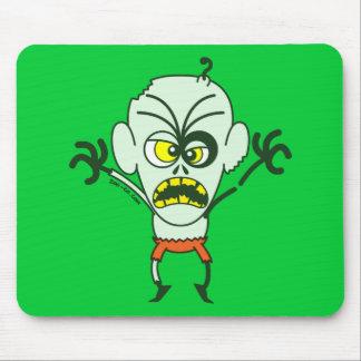 Emoticon asustadizo del zombi de Halloween Alfombrilla De Ratón