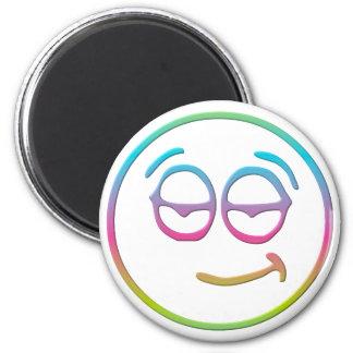 "Emoticon "" Chillin' "" 2 Inch Round Magnet"
