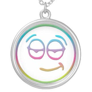 """Emoticon """" Chillin' """" Necklace"""