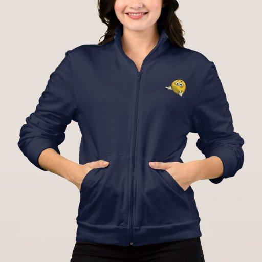 Emoticon confuso chaqueta imprimida