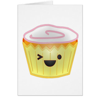 Emoticon Cupcake Card