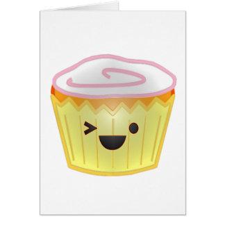 Emoticon Cupcake Greeting Cards