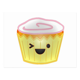Emoticon Cupcake Postcard