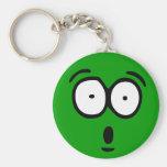 Emoticon Customizable Background Keychain