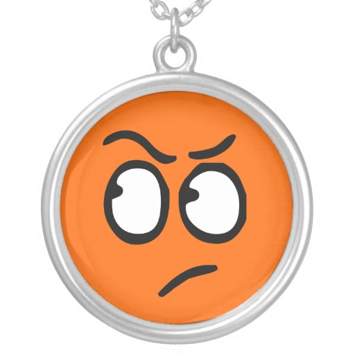 Emoticon Customizable Background Necklace