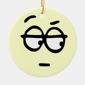 Emoticon Customizable Background Ornament