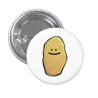 Emoticon de la patata pin redondo de 1 pulgada