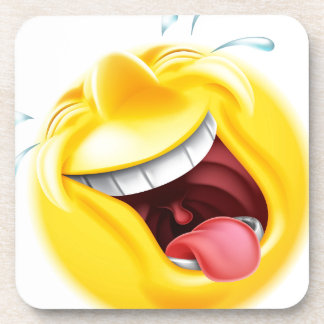 Emoticon de risa de Emoji Posavaso