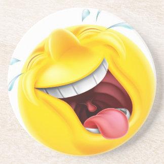 Emoticon de risa de Emoji Posavasos Personalizados