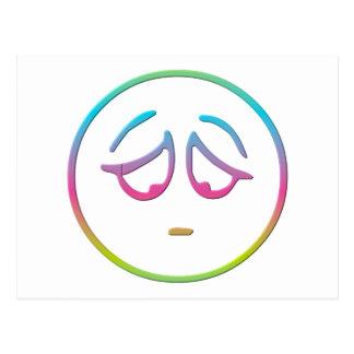 """Emoticon """"Dejected"""" Postcard"""