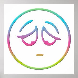 """Emoticon """"Dejected"""" Poster"""