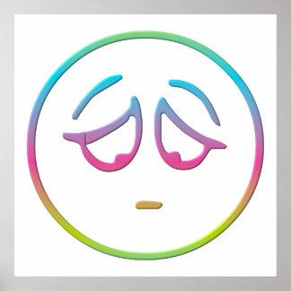 Emoticon Dejected Print