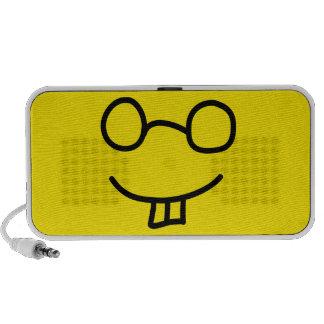 Emoticon del empollón laptop altavoz