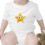 Emoticon divertido 2 de la estrella trajes de bebé