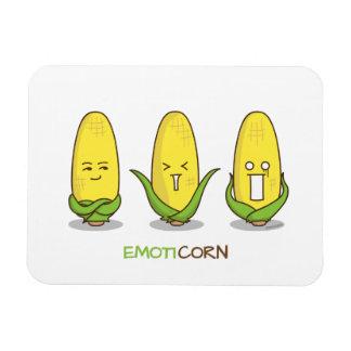 Emoticon divertido lindo Emoticorn del maíz de Imán